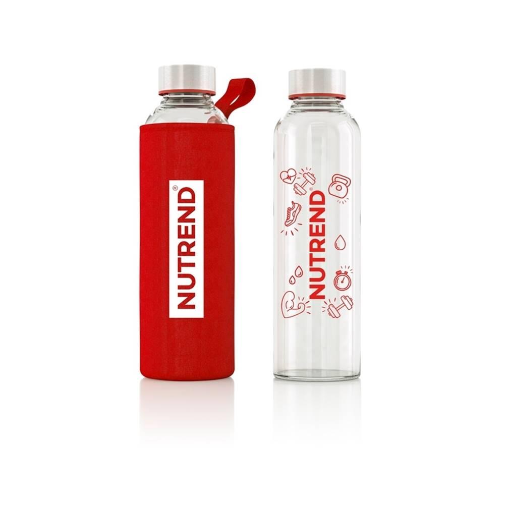 Nutrend Sklenená fľaša Nutrend s termoobalom 800 ml červená