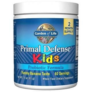 Garden of Life Primal Defense Kids - Probiotická výživa pro děti – s příchutí banánu -81g.