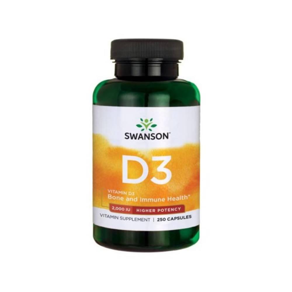 Swanson Swanson Vitamín D3 2000 IU 250 kaps.