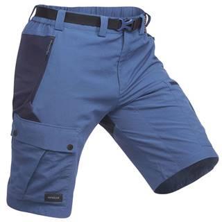 FORCLAZ Pánske šortky Trek 500 Modré