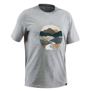QUECHUA Pánske Tričko Nh500 Sivé