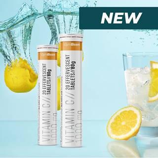 Vitamin C 1000 mg šumivý - GymBeam 20 tbl. Orange