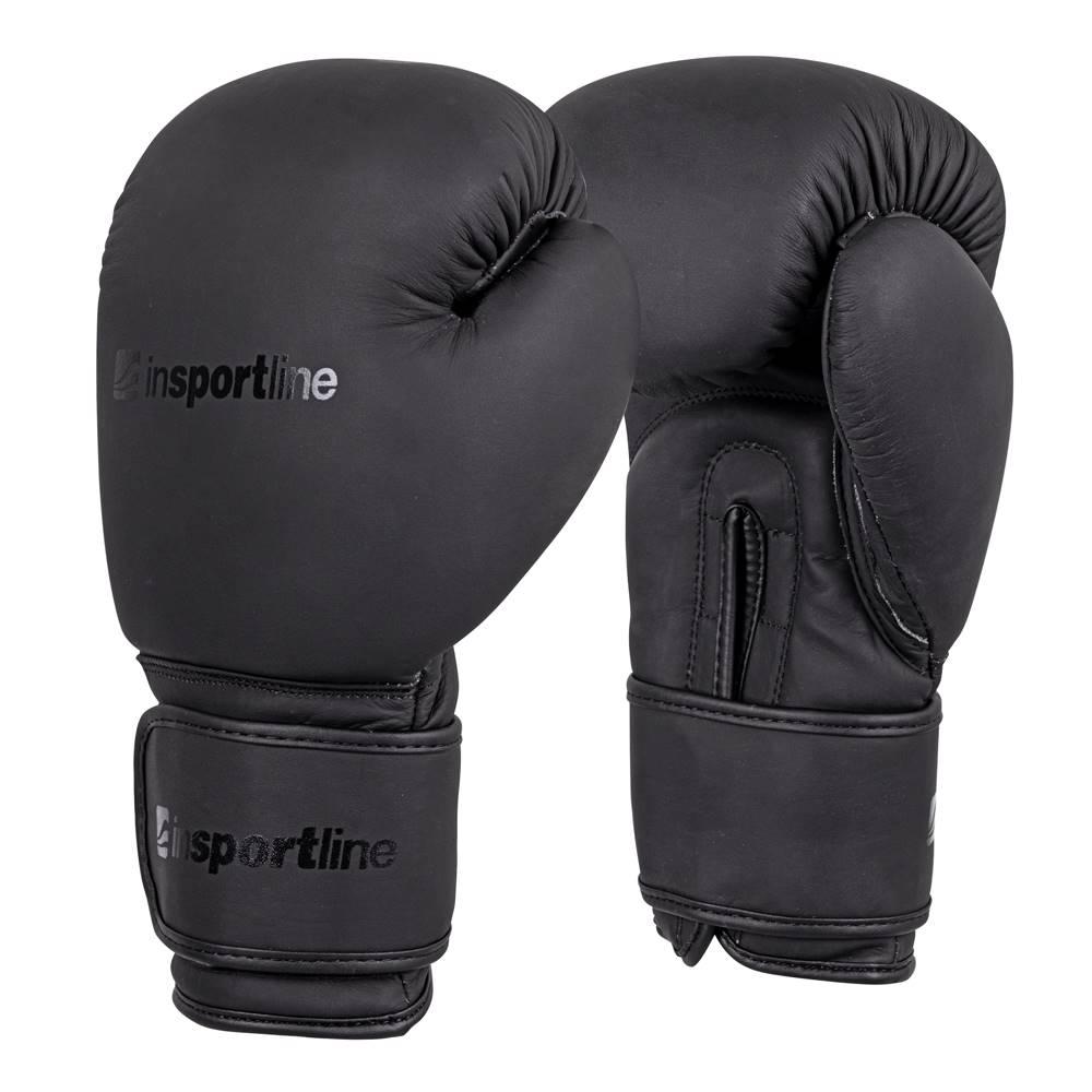 Insportline Boxerské rukavice inSPORTline Kuero čierna - 8oz