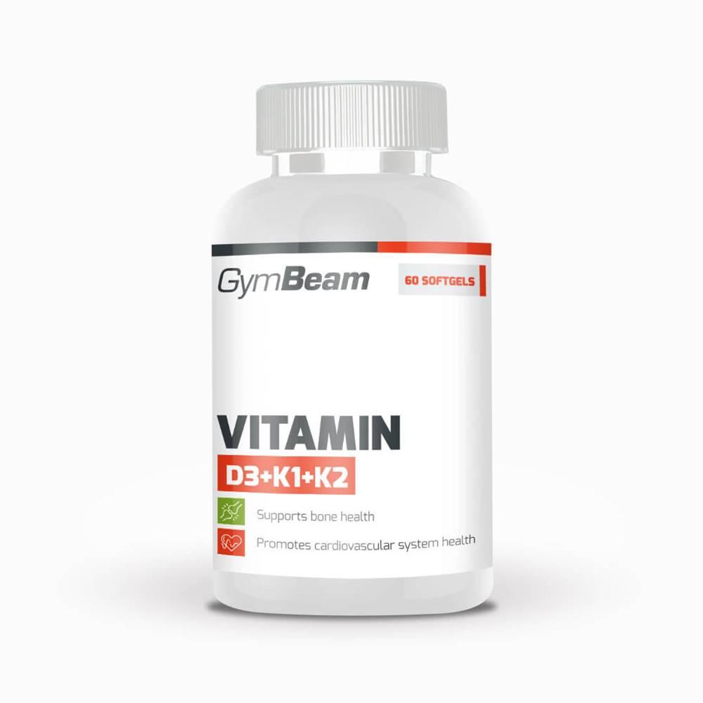 GymBeam GymBeam Vitamín D3+K1+K2 60 kaps.