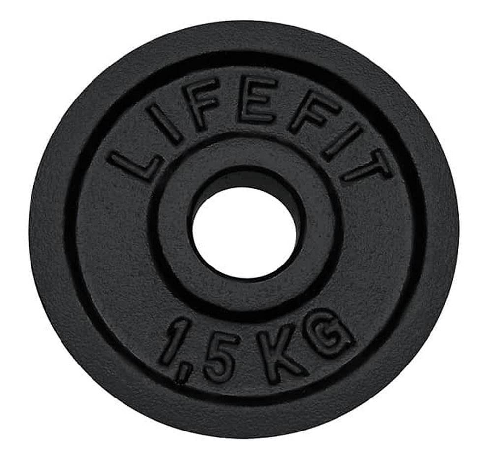 Lifefit Kotúč LIFEFIT 1,5kg, kovový, pre 30mm tyč