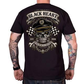 Tričko BLACK HEART Old School Racer čierna - M