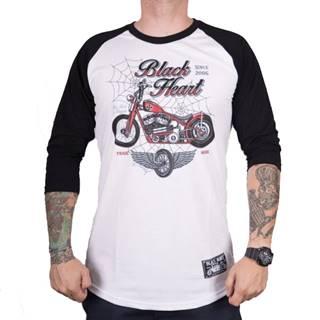 Tričko s dlhým rukávom BLACK HEART Red Baron Chopper biela - M