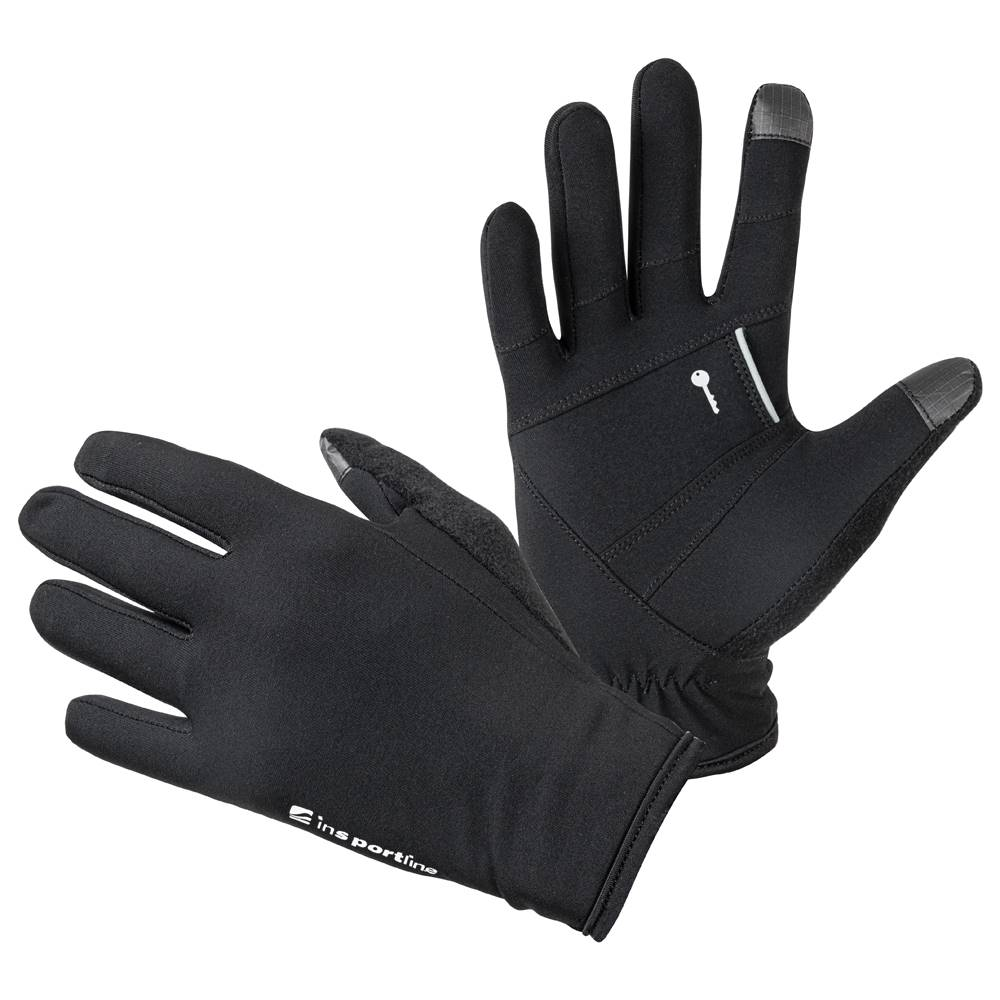 Insportline Bežecké rukavice inSPORTline Vilvidero čierna - S