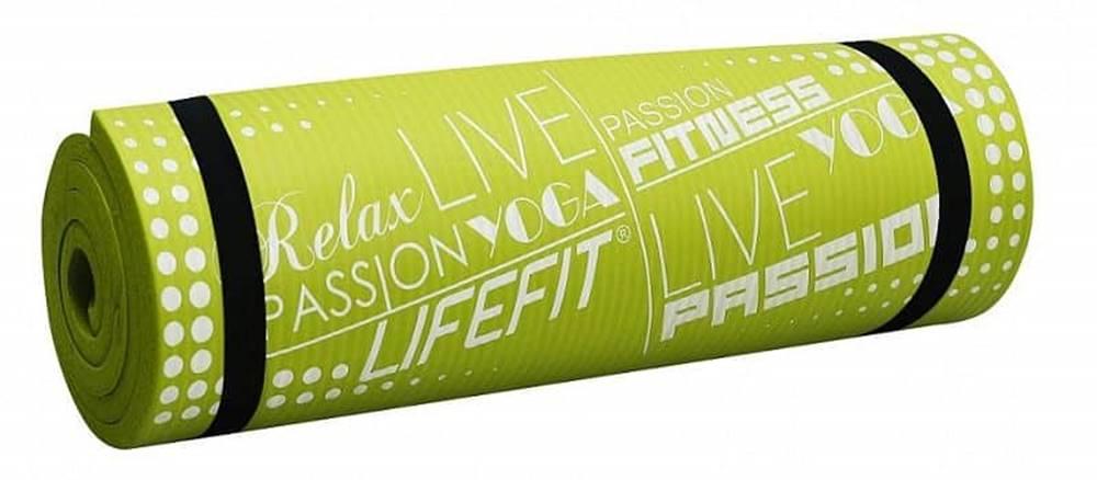 Lifefit Podložka LIFEFIT YOGA MAT EXKLUZIV PLUS, 180x58x1,5cm, světle zelená