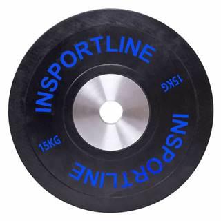 inSPORTline Gumový kotouč inSPORTline Bumper Plate 15 kg