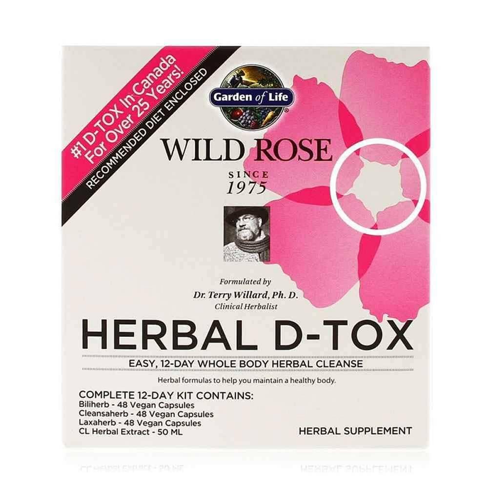 Garden of life Wild Rose Herbal D-Tox - bylinná detoxikace celého těla