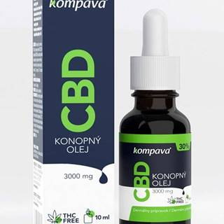 CBD konopný olej 30% - Kompava 10 ml.