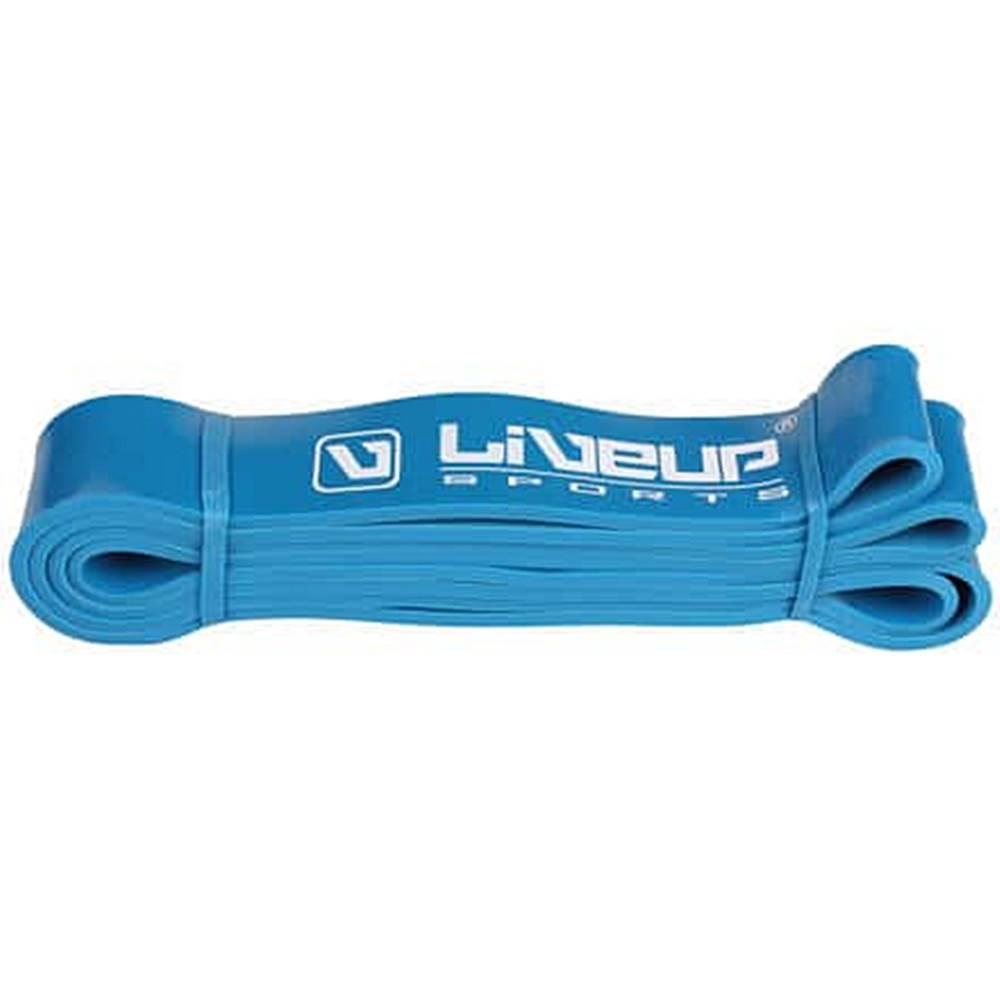 LiveUp Aerobic guma posilovací guma 208 x 0,45 cm modrá Rozměr: S