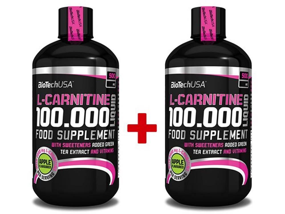 Biotech USA 1+1 Zadarmo: L-Carnitine 100 000 Liquid od Biotech USA 500 ml. + 500 ml. Jablko