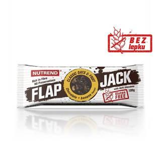 Tyčinka Nutrend FlapJack GLUTEN FREE 100g čokoláda+banán s horkou čokoládou