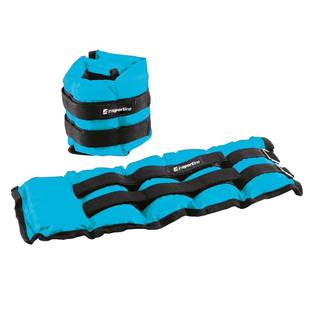 Nastaviteľné závažie na členok/zápästie inSPORTline BlueWeight 2x2 kg