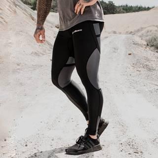 GymBeam Pánske legíny Flex Tights Black Grey  S